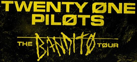 parte del cartel anunciador del tour bandito de twenty one pilots